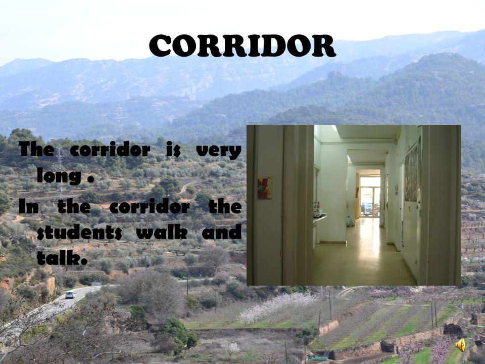 CORRIDOR The corridor is very long .