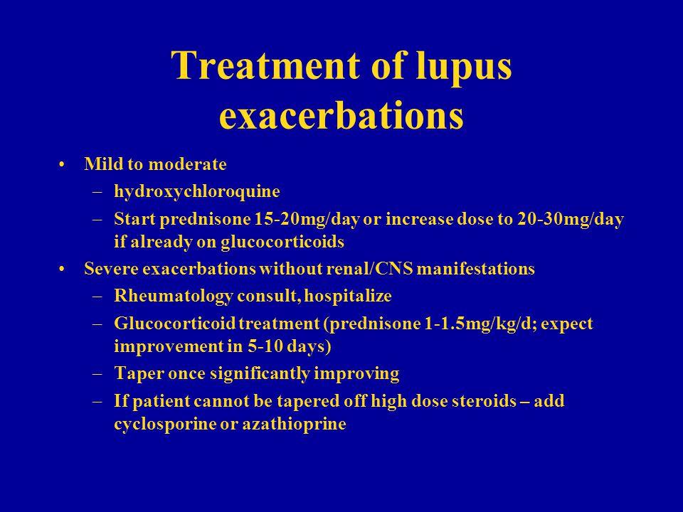Treatment of lupus exacerbations