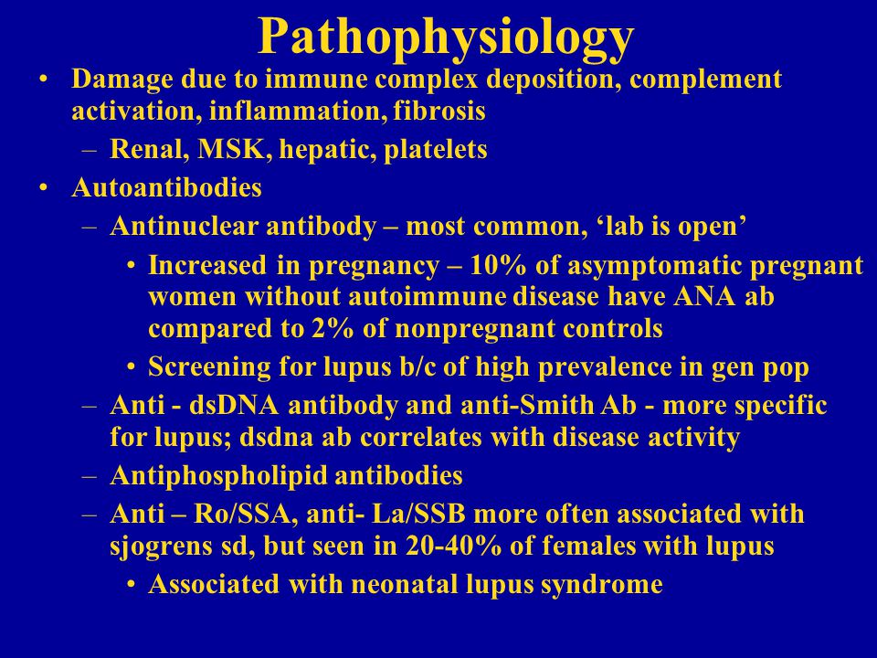 Pathophysiology Damage due to immune complex deposition, complement activation, inflammation, fibrosis.