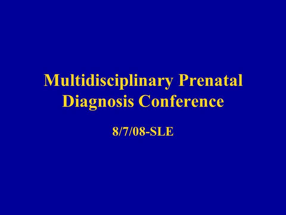 Multidisciplinary Prenatal Diagnosis Conference