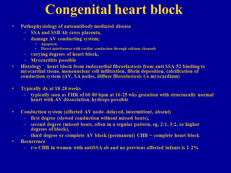 Congenital heart block