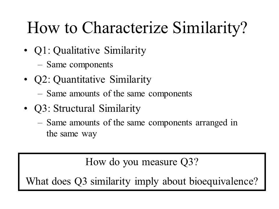 How to Characterize Similarity