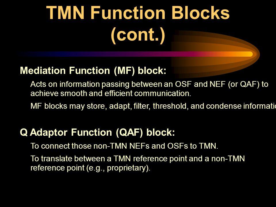 TMN Function Blocks (cont.)