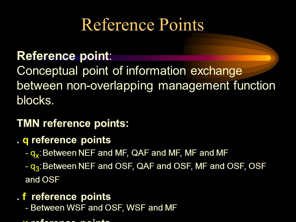 Reference Points Reference point: