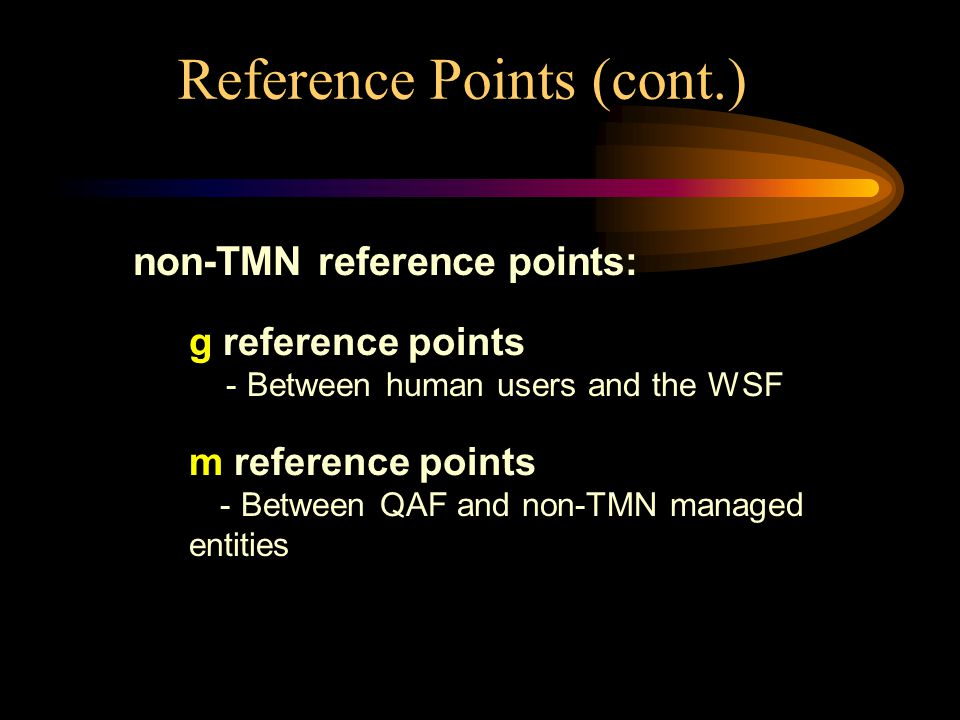 Reference Points (cont.)