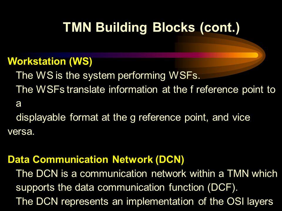 TMN Building Blocks (cont.)