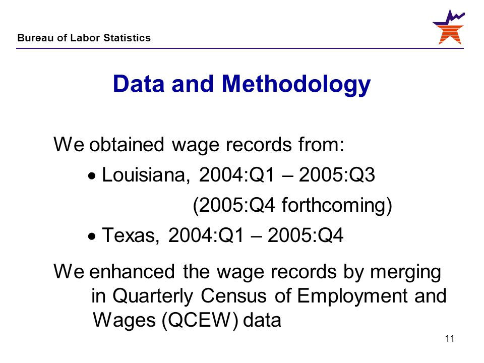 Data and Methodology We obtained wage records from: