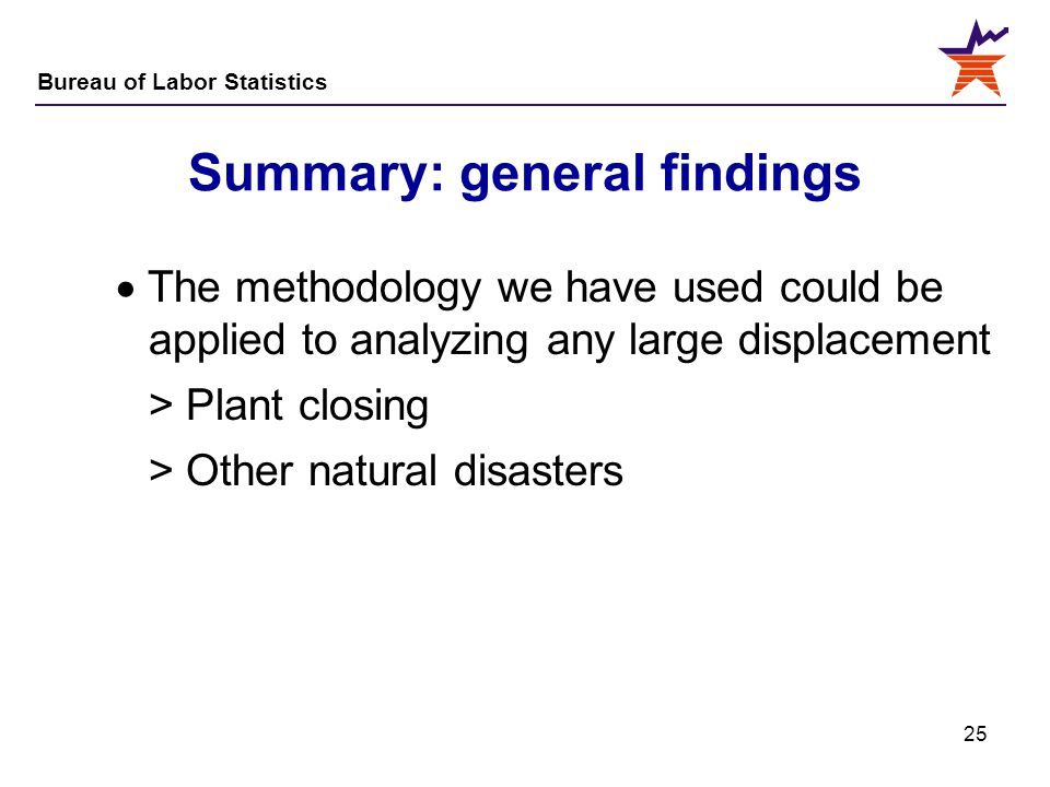 Summary: general findings