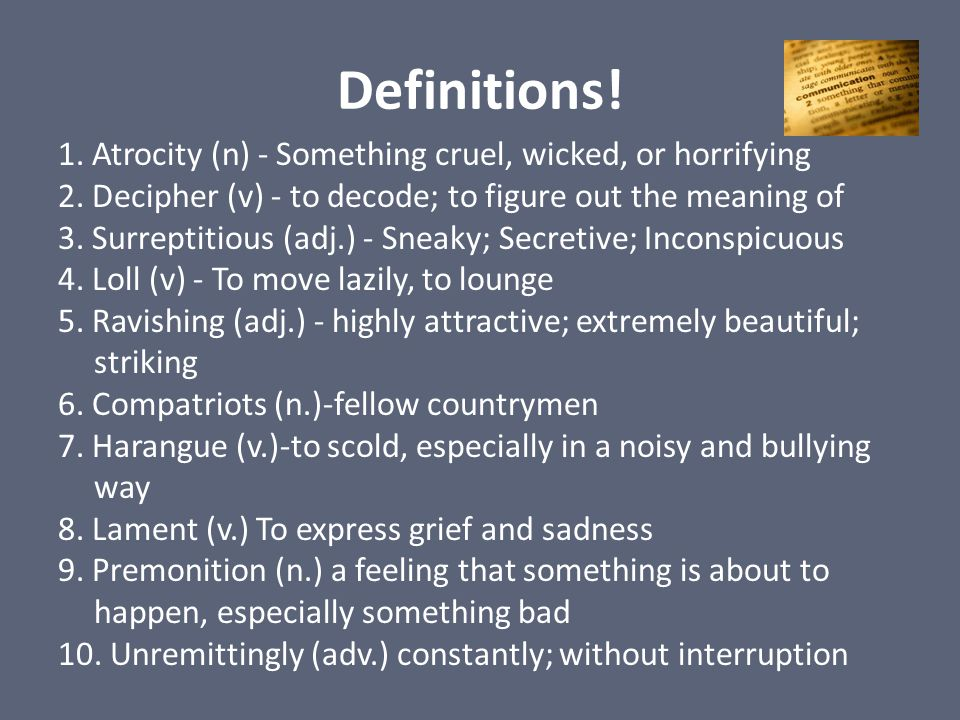 Definitions!