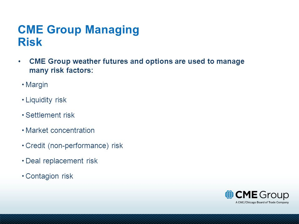 CME Group Managing Risk