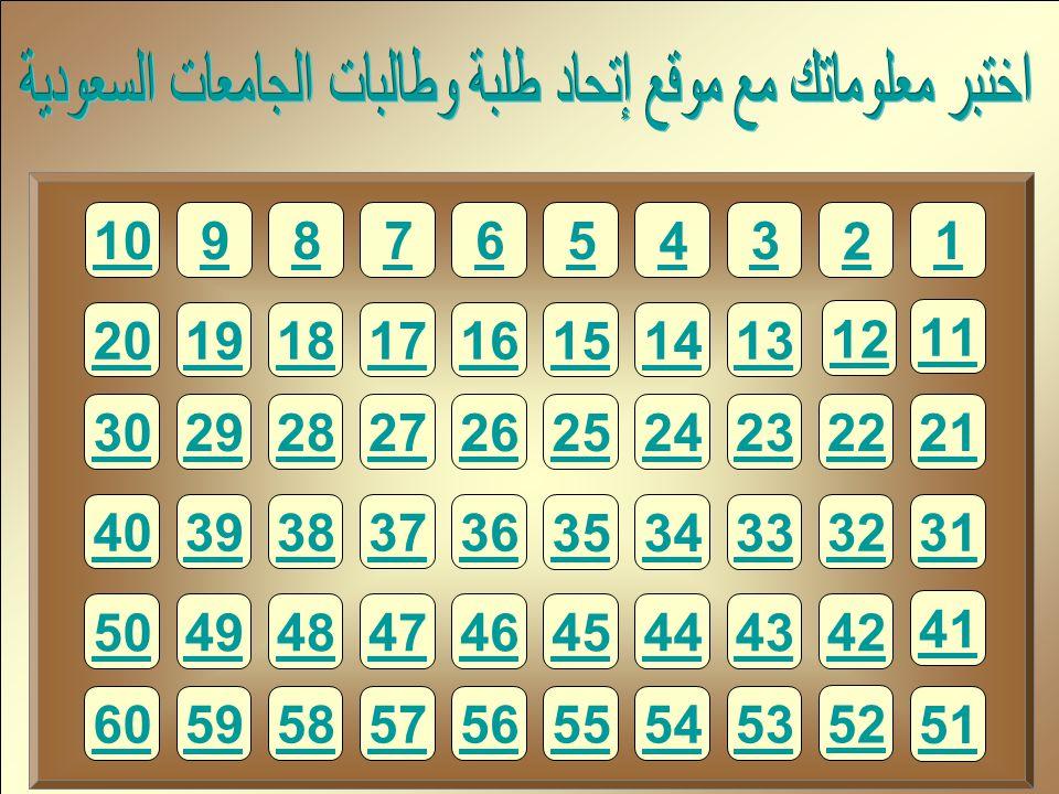 اختبر معلوماتك مع موقع إتحاد طلبة وطالبات الجامعات السعودية