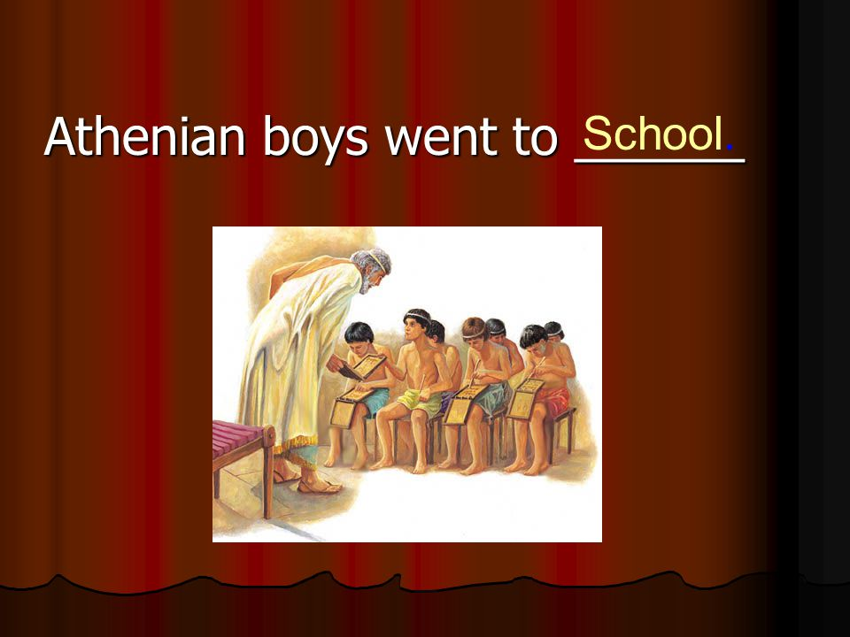 Athenian boys went to ______