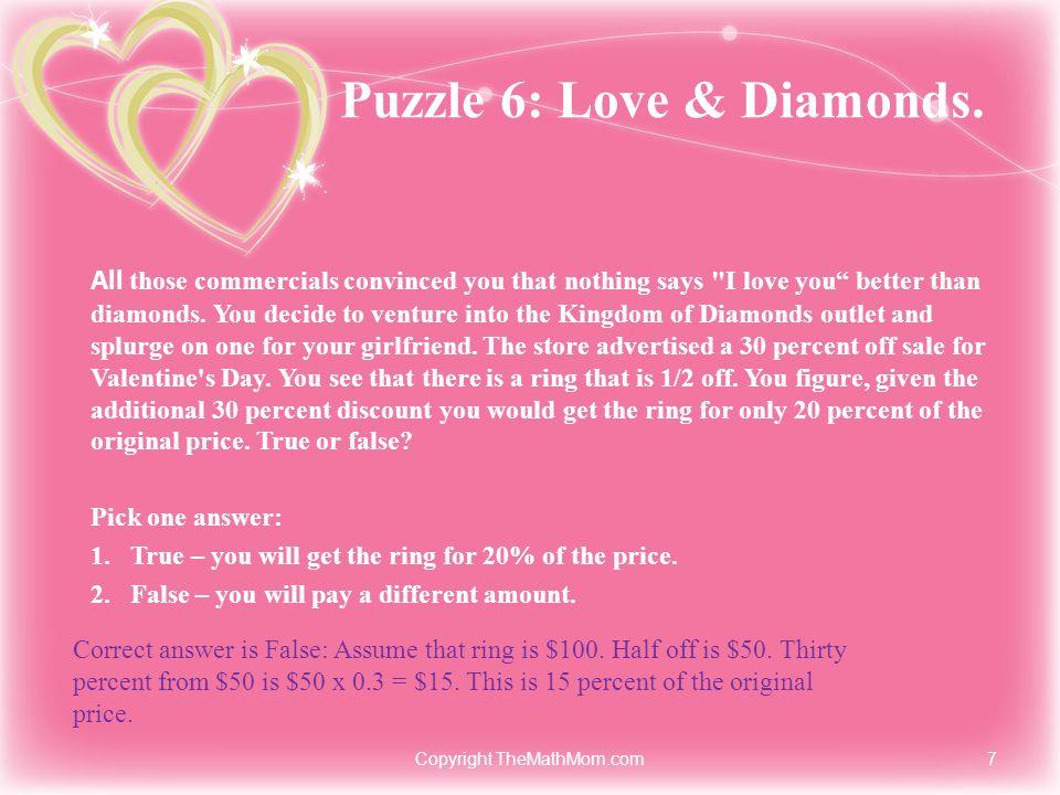 Puzzle 6: Love & Diamonds.