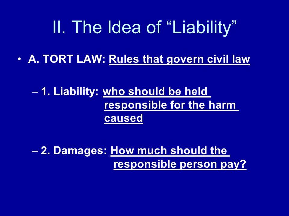 II. The Idea of Liability