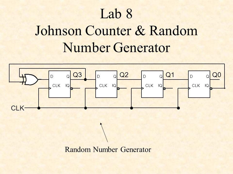 Lab 8 Johnson Counter & Random Number Generator