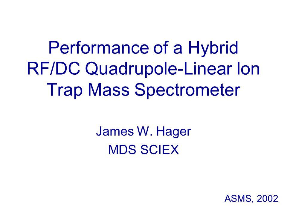 Performance of a Hybrid RF/DC Quadrupole-Linear Ion Trap Mass Spectrometer