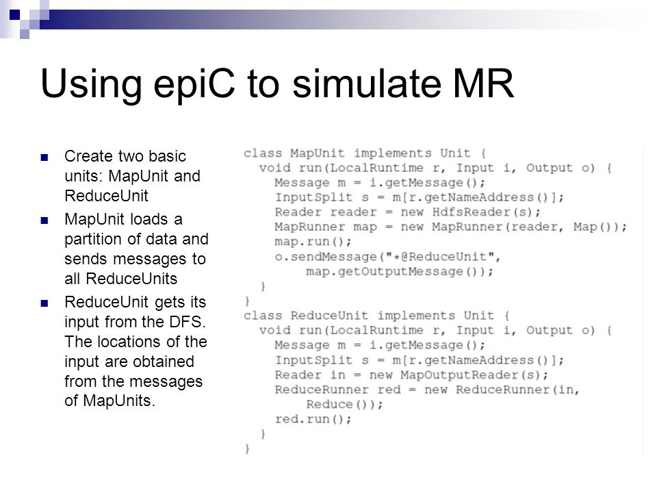Using epiC to simulate MR