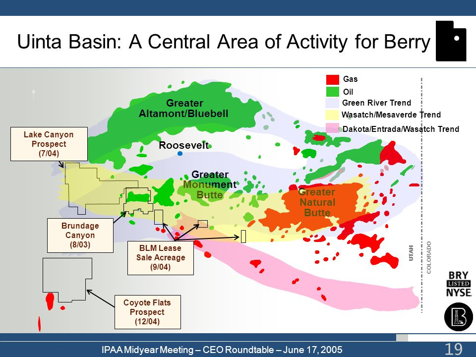 Uinta Basin: A Central Area of Activity for Berry