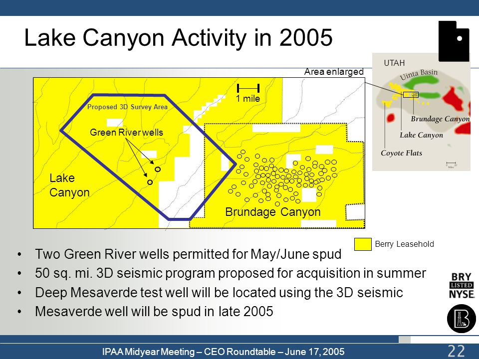 Lake Canyon Activity in 2005