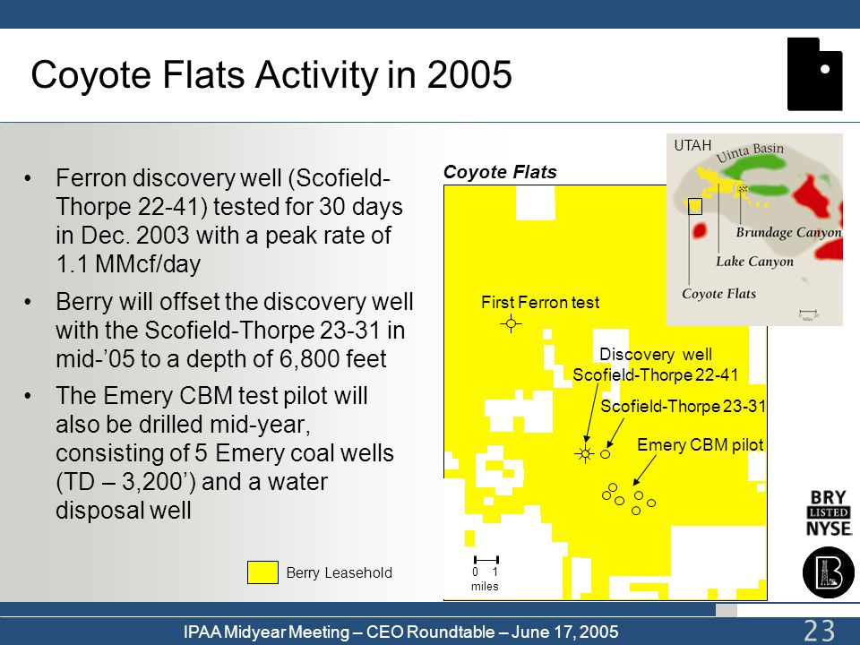 Coyote Flats Activity in 2005