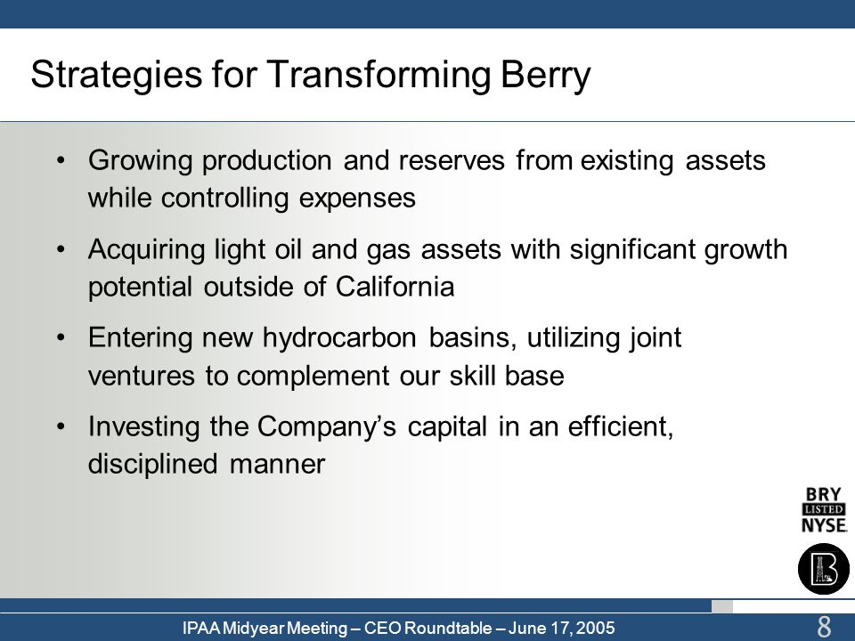 Strategies for Transforming Berry