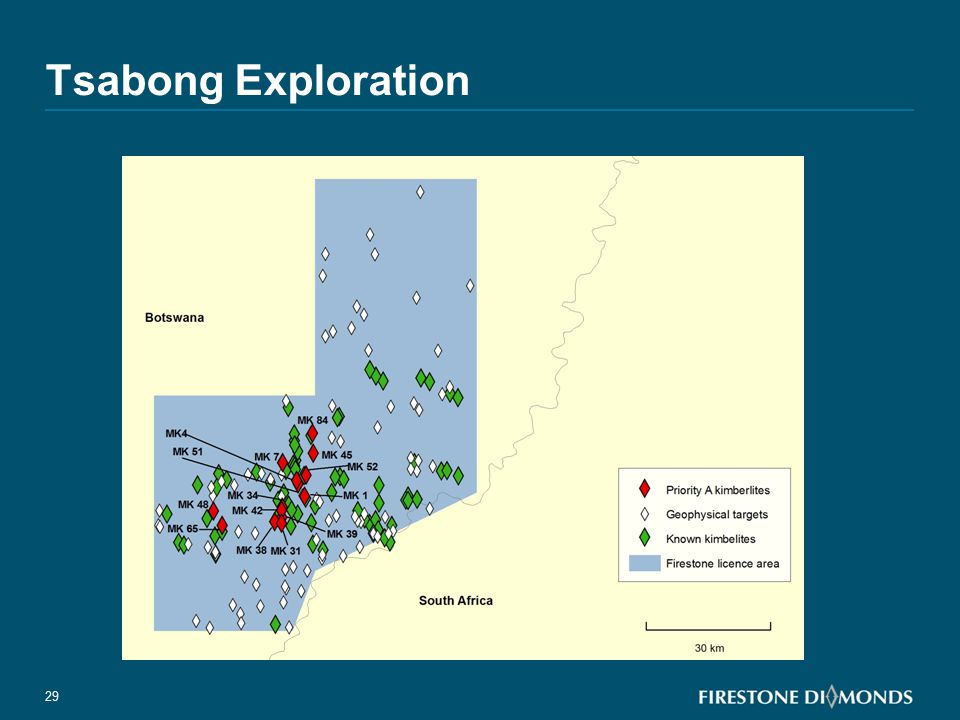 Tsabong Exploration >80 geophysical targets to drill.