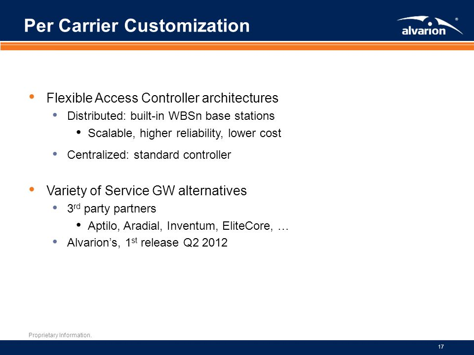 Per Carrier Customization