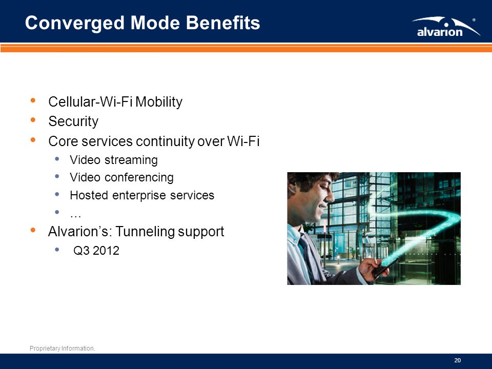 Converged Mode Benefits