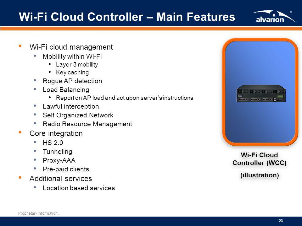Wi-Fi Cloud Controller – Main Features
