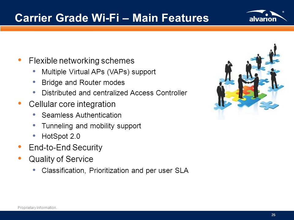 Carrier Grade Wi-Fi – Main Features