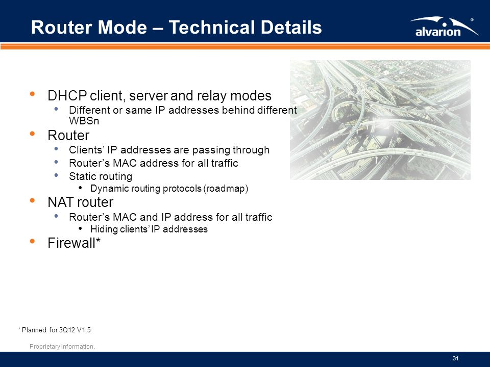 Router Mode – Technical Details