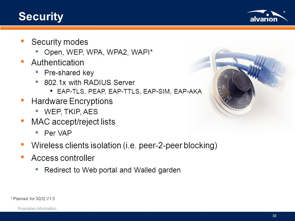 Security Security modes Authentication Hardware Encryptions