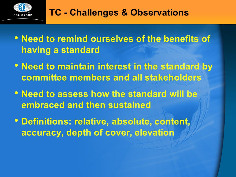 TC - Challenges & Observations