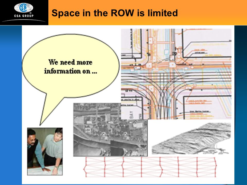 Space in the ROW is limited