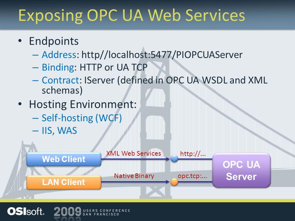 Exposing OPC UA Web Services