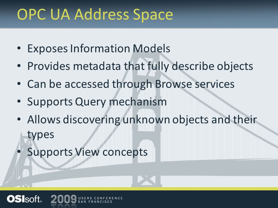 OPC UA Address Space Exposes Information Models