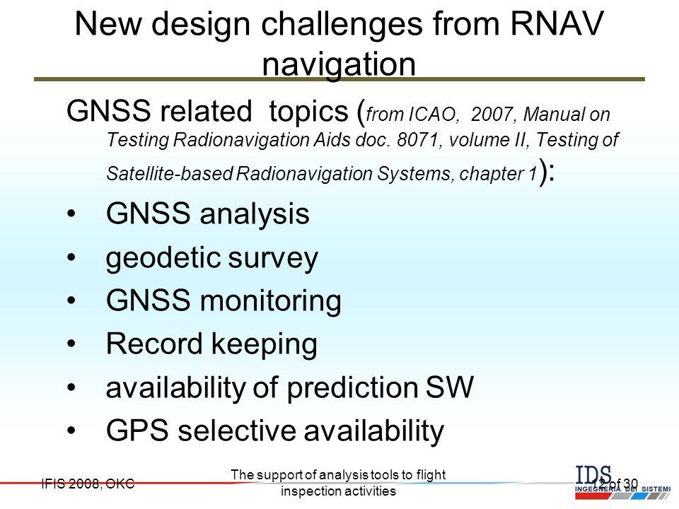 New design challenges from RNAV navigation