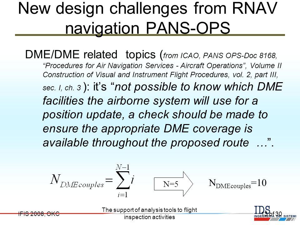 New design challenges from RNAV navigation PANS-OPS