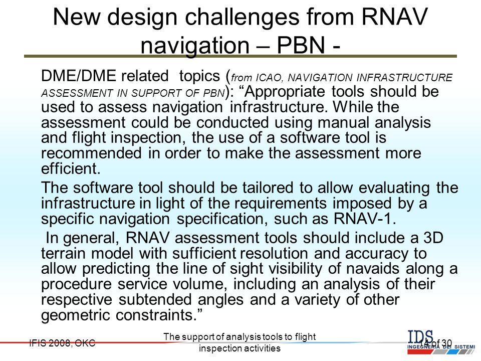 New design challenges from RNAV navigation – PBN -