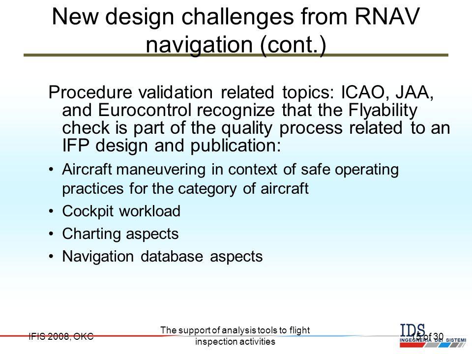 New design challenges from RNAV navigation (cont.)