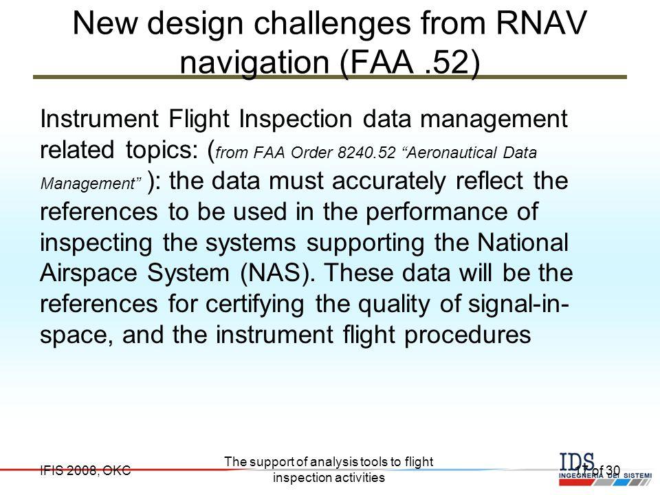 New design challenges from RNAV navigation (FAA .52)