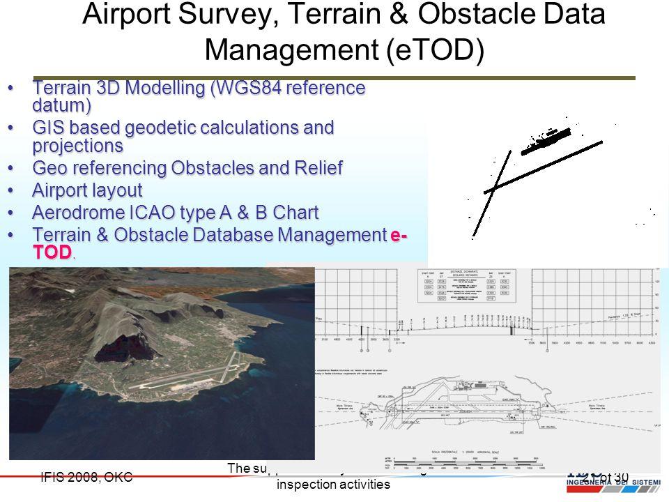 Airport Survey, Terrain & Obstacle Data Management (eTOD)