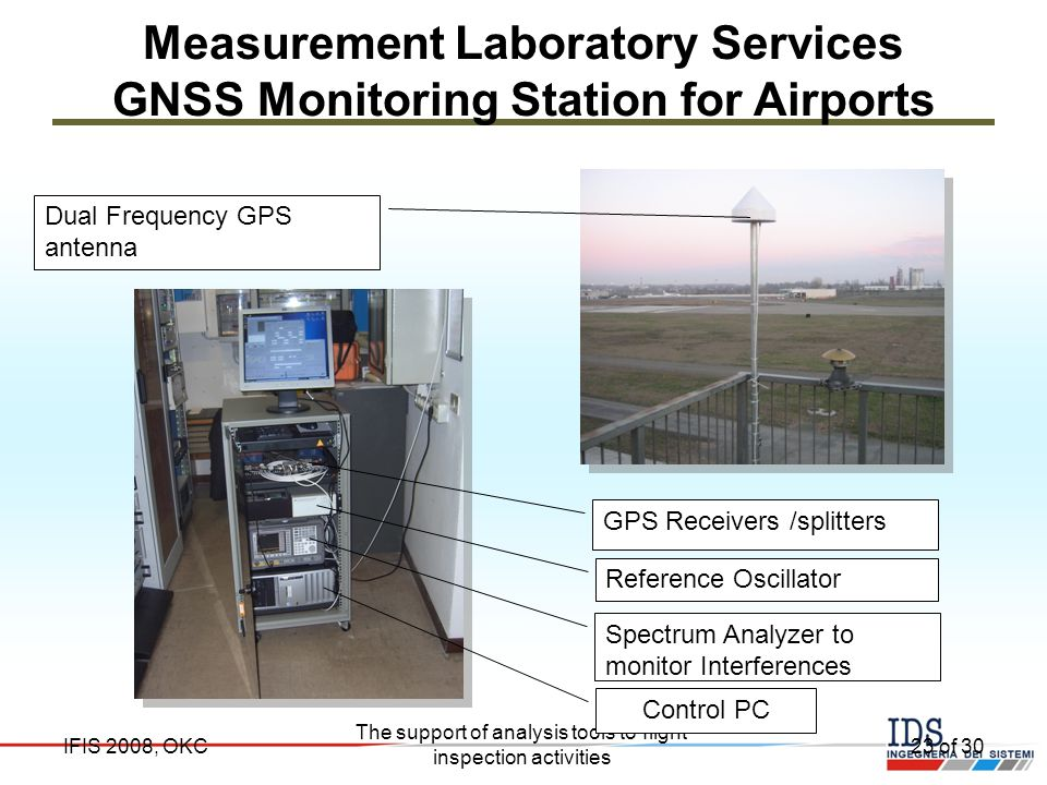Measurement Laboratory Services GNSS Monitoring Station for Airports