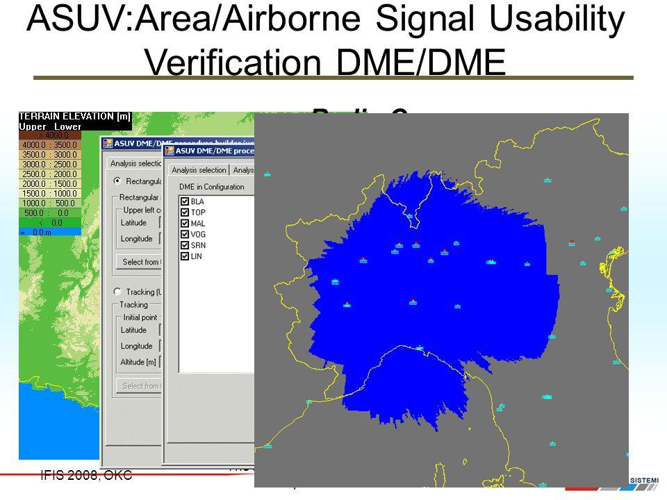 ASUV:Area/Airborne Signal Usability Verification DME/DME