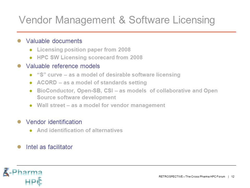 Vendor Management & Software Licensing