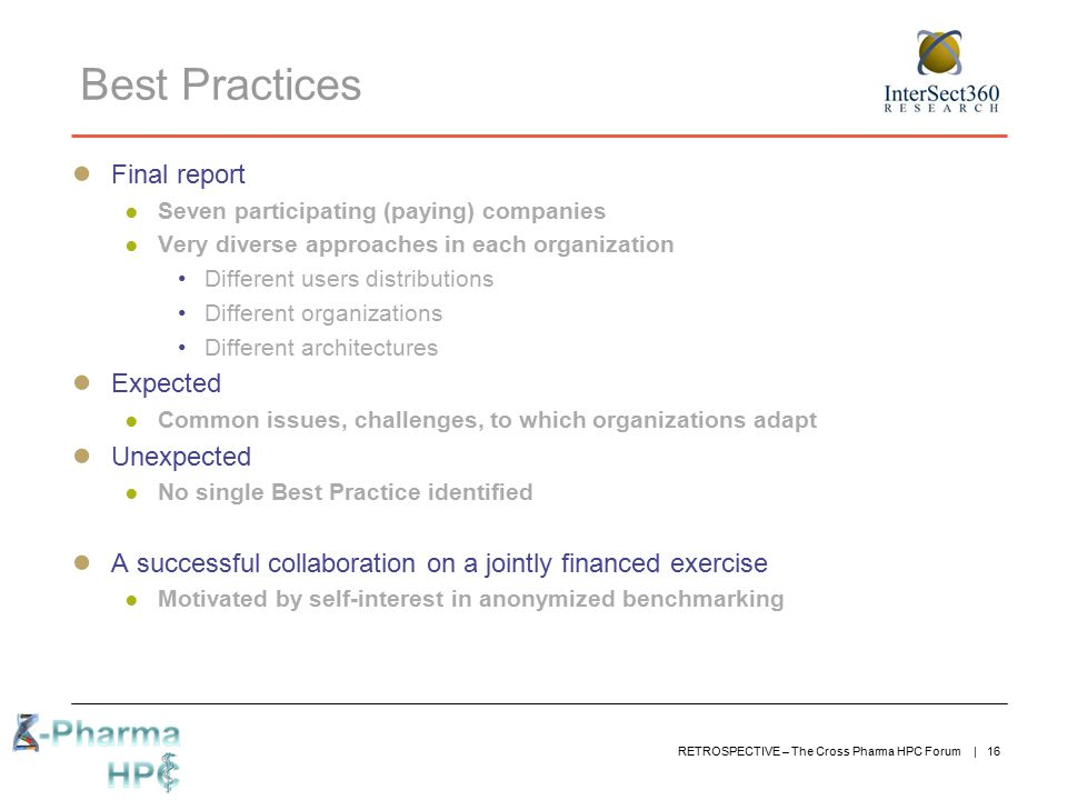 Best Practices Final report Expected Unexpected