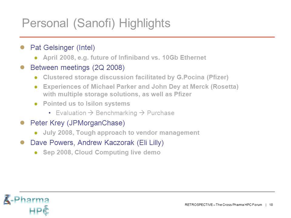 Personal (Sanofi) Highlights