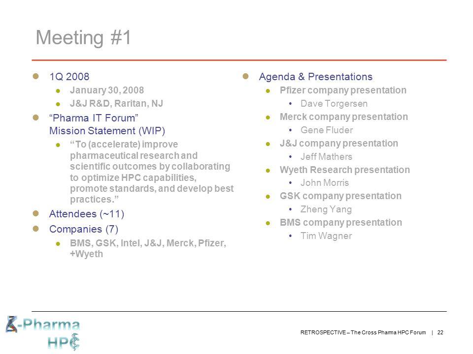 Meeting #1 1Q 2008 Pharma IT Forum Mission Statement (WIP)