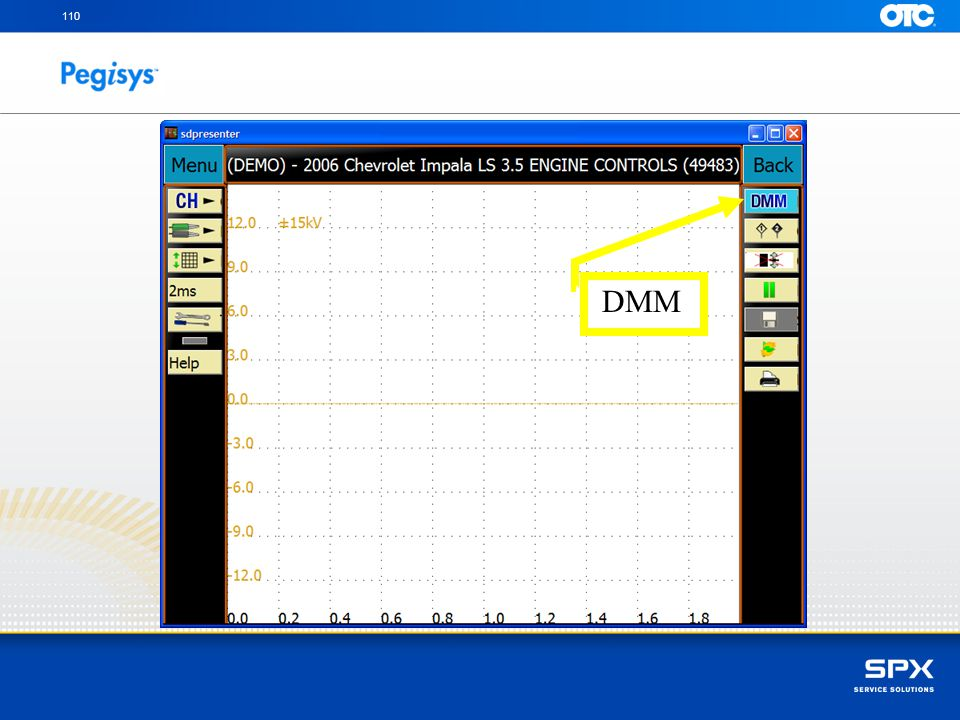 Touch on the DMM icon to turn off the digital information