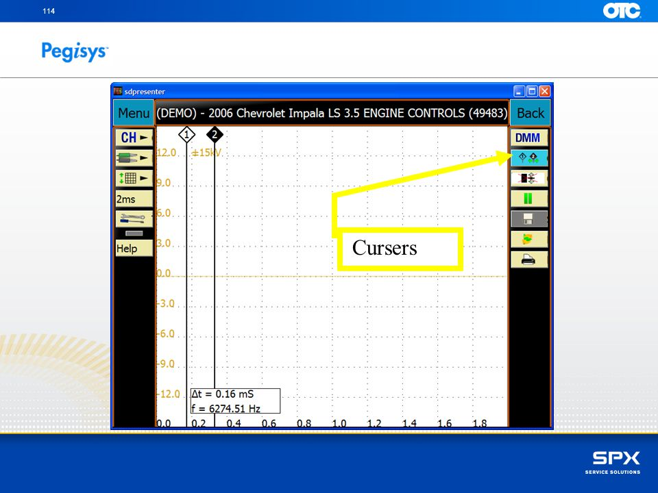 To hold the curser in place touch on the curser icon